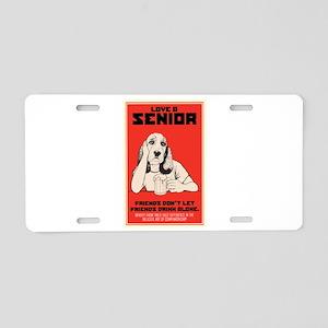 Love A Senior Dog Aluminum License Plate