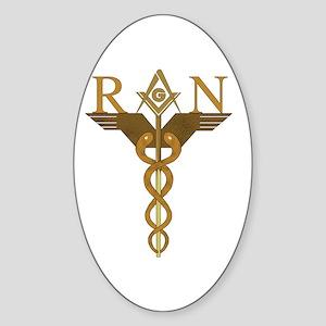 Nursing Masons Oval Sticker