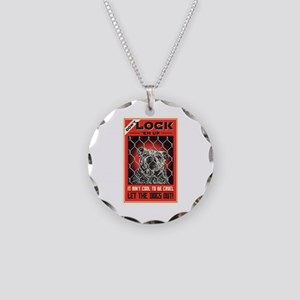 Let The Dogs Out Necklace Circle Charm