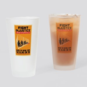 Fight Injustice Drinking Glass