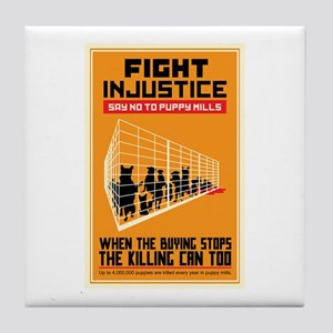 Fight Injustice Tile Coaster