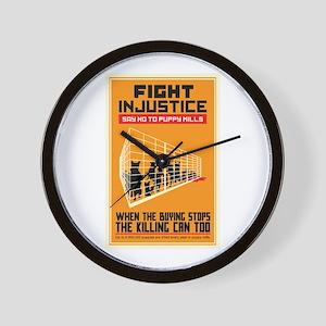Fight Injustice Wall Clock