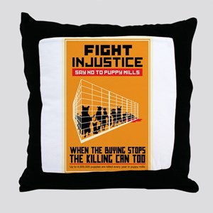 Fight Injustice Throw Pillow