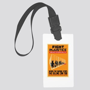 Fight Injustice Large Luggage Tag