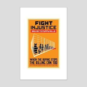 Fight Injustice Mini Poster Print