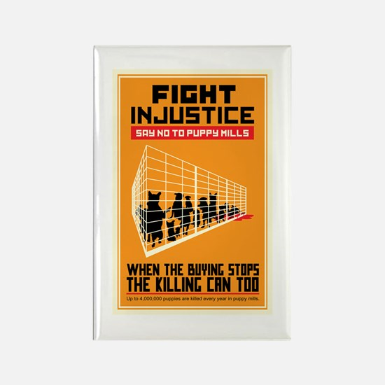 Fight Injustice Rectangle Magnet