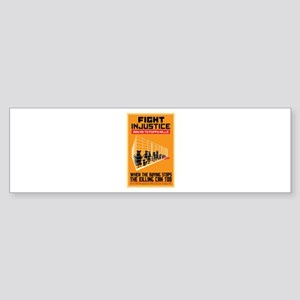 Fight Injustice Sticker (Bumper)
