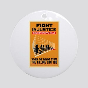 Fight Injustice Ornament (Round)