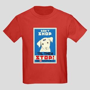 Say No To Puppy Mills Kids Dark T-Shirt