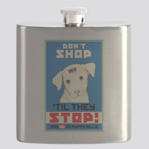Say No To Puppy Mills Flask