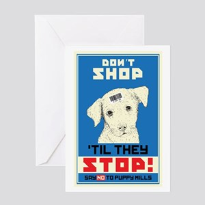 Say No To Puppy Mills Greeting Card