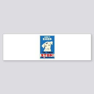 Say No To Puppy Mills Sticker (Bumper)
