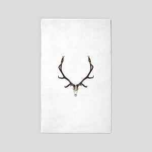 Bull elk skull European mount,2 Area Rug