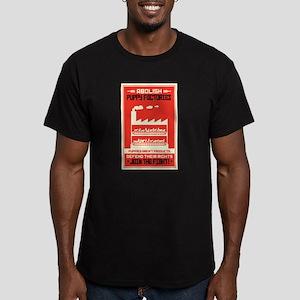 Abolish Puppy Mills Men's Fitted T-Shirt (dark)