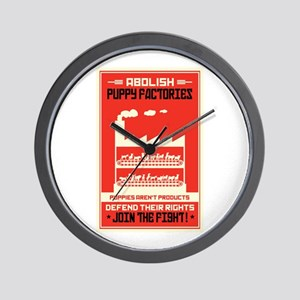 Abolish Puppy Mills Wall Clock