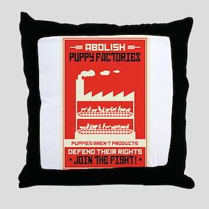 Abolish Puppy Mills Throw Pillow