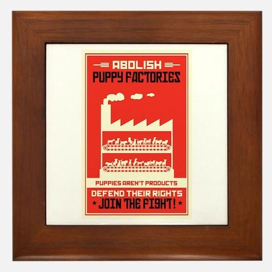 Abolish Puppy Mills Framed Tile