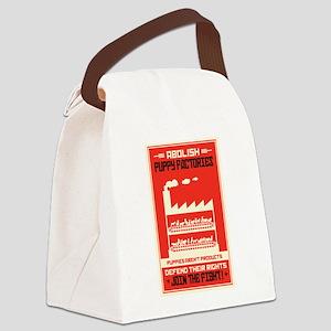 Abolish Puppy Mills Canvas Lunch Bag