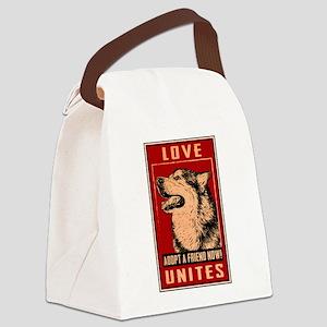 Love Unites Canvas Lunch Bag