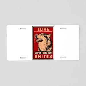 Love Unites Aluminum License Plate