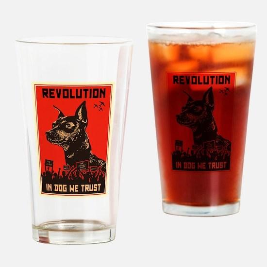 Dog Revolution Drinking Glass