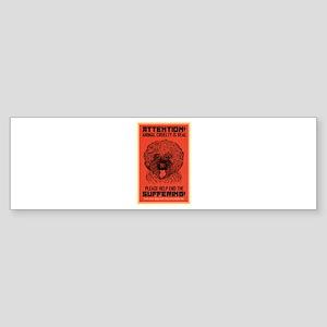 Animal Cruelty Sticker (Bumper)