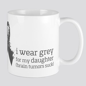 I wear Grey for my Daughter Mugs