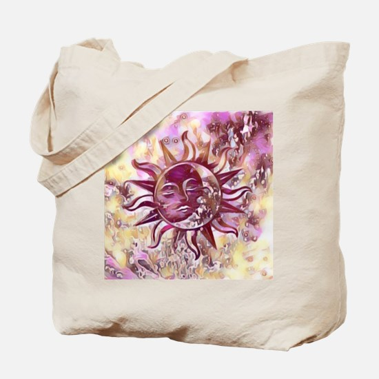 Passion Sun Moon Tote Bag
