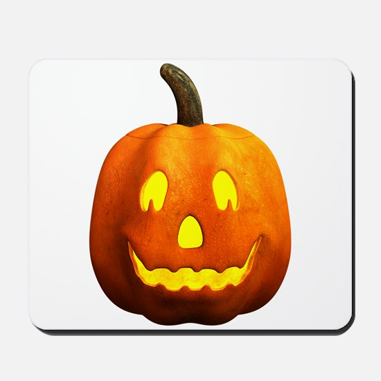 Halloween Pumpkin Face - Happy Mousepad