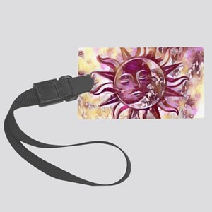 Passion Sun Moon Large Luggage Tag