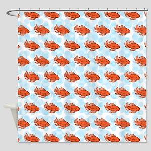 Love Goldfish Shower Curtains