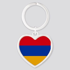 Flag of Armenia Heart Keychain