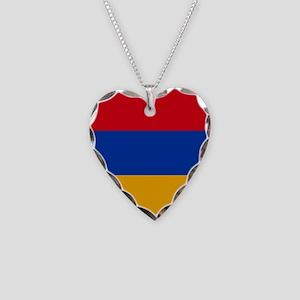 Flag of Armenia Necklace Heart Charm