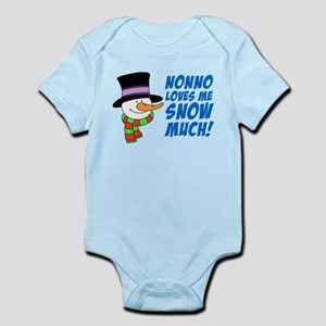 Nonno Loves Me Snow Much Body Suit
