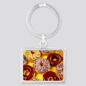 Assorted delicious donuts Keychains