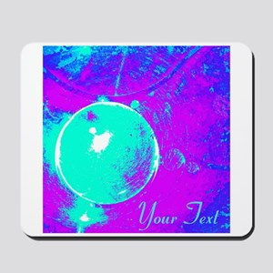 Personalizable Teal Purple Abstract Mousepad