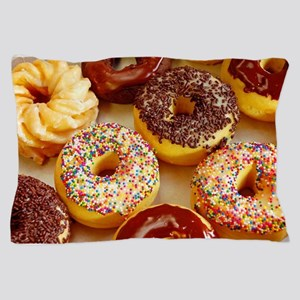 Assorted delicious donuts Pillow Case