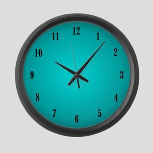 Aqua Large Wall Clock