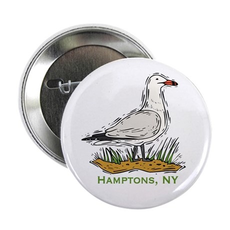 """Hamptons NY Seagull 2.25"""" Button (10 pack)"""