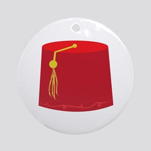 Red Tarboosh Ornament (Round)