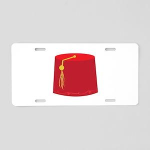 Red Tarboosh Aluminum License Plate