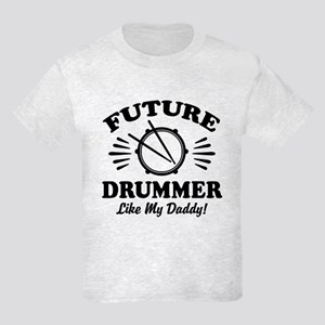 Future drummer Like My Daddy Kids Light T-Shirt