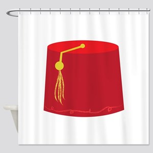 Red Tarboosh Shower Curtain