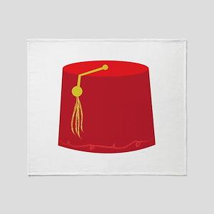 Red Tarboosh Throw Blanket