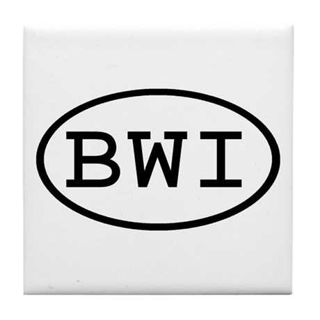 BWI Oval Tile Coaster