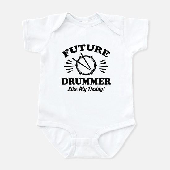 Future drummer Like My Daddy Baby Light Bodysuit