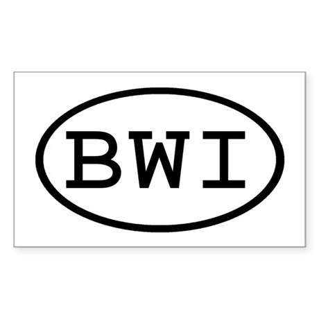 BWI Oval Rectangle Sticker