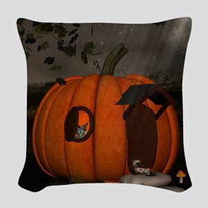 Halloween Woven Throw Pillow