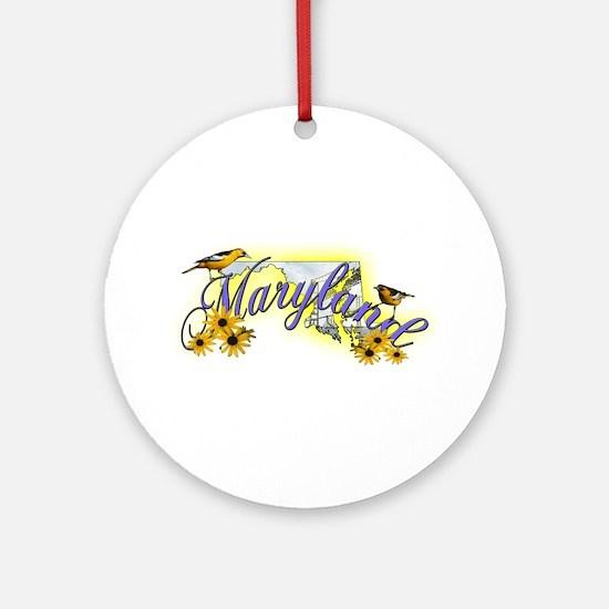 Maryland Ornament (Round)