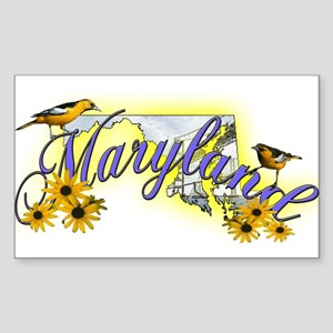 Maryland Rectangle Sticker